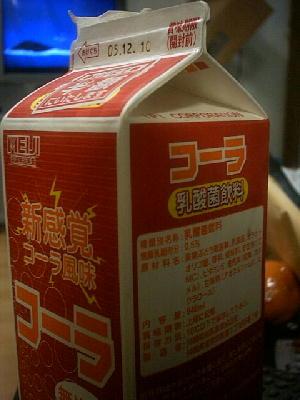 コーラ風味乳酸菌飲料