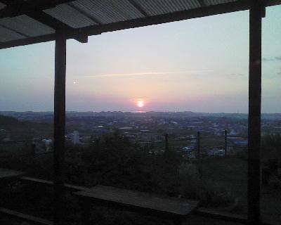 ベジタリカから見る夕日
